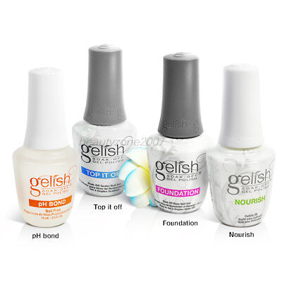 Harmony Gelish Fantastic Four Gel Polish Kit Base+Top+ Nourish + pH Bond 0.5oz
