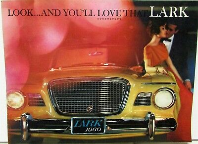 1960 Studebaker Lark Color XL Sales Brochure Convertible Wagon Sedan Hardtop