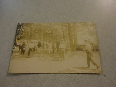 Very RARE! Early 1900s YMCA Real Photo Unused Post Card Feat.Large Group of Men