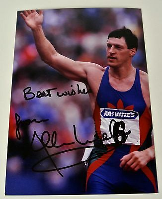 Allan Wells SIGNED Autograph 7x5 Photo 100m Gold Medal Olympics Moscow 1980 COA