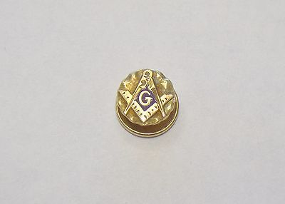 Vintage Mason Masonic Fraternal 3/8 Lapel Pin With Screw On Back