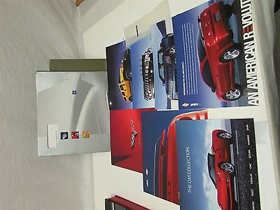 2005 GM Dealer Sales Brochure Set W/Case Corvette Hummer XLR Cobalt Full Line 05