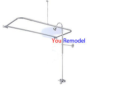 Add A Shower Converter Kit For Clawfoot Tub With Diverter Faucet D Shape Rod