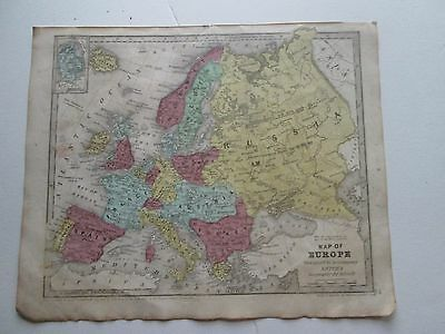 "1839 Smith's Atlas ""map Of Europe"""