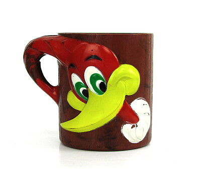 Vintage 1965 Woody Woodpecker Promotional Plastic Child's Mug Walter Lantz