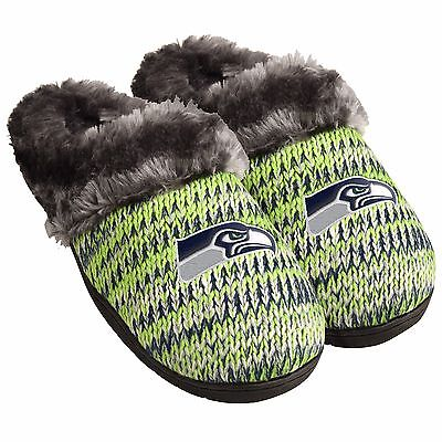 Seattle Seahawks Slippers Logo NEW Womens Slide House shoes! Peak Slide