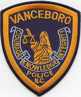 Vanceboro North Carolina Nc Police Patch