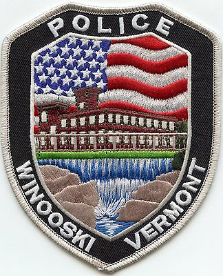 WINOOSKI VERMONT VT colorful POLICE PATCH