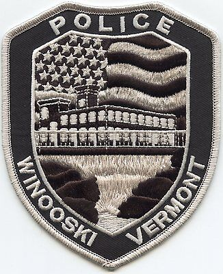 WINOOSKI VERMONT VT subdued POLICE PATCH