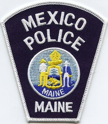 Mexico Maine Me Police Patch