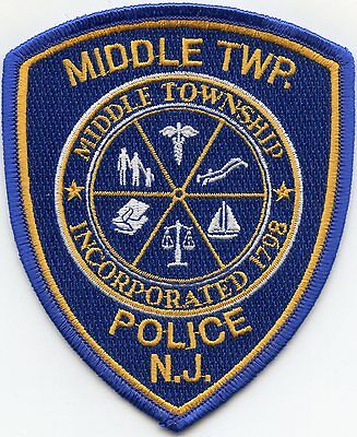 Middle Township New Jersey Nj Police Patch