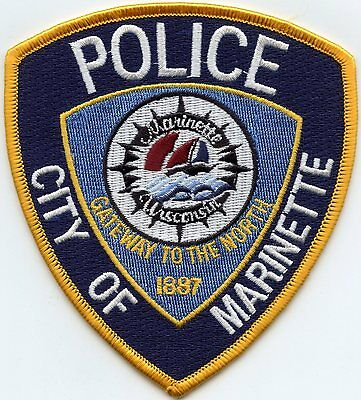 MARINETTE WISCONSIN WI Gateway To The North POLICE PATCH