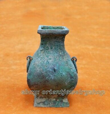 Din Tai Fung antique Shang  Zhou dynasty excellent old bronze carved statue pot