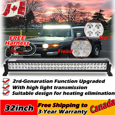 32inch 180w Led Light Bar Work Offroad SUV 4WD ATV Jeep Ford Ram Truck Dodge 30