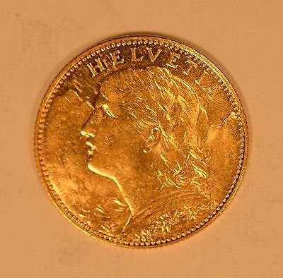 1913 Switzerland 10 Francs gold coin
