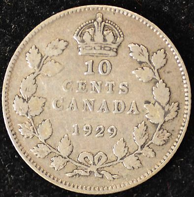 1929 VG Canadian Ten Cents #2