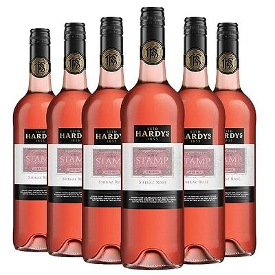 Hardy's Stamp Shiraz Rose 2014 (6 x 750ml), SE AUS