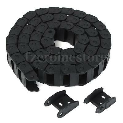 Cable 10X20mm Drag Chain Wire Carrier Towline Nylon R28 1000mm (39'') Para CNC