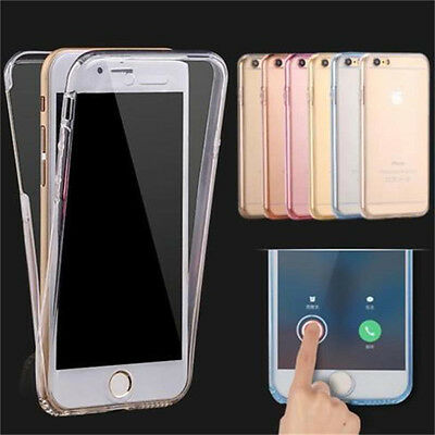 Silicone Shockproof 360° Protective Clear Case Cover For Apple iPhone 7 / 7 Plus
