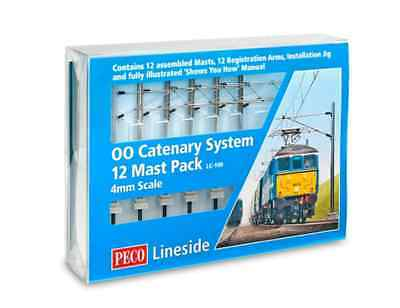 Peco Lineside LC-100 - Catenary System - 12 Mast Pack               New     (00)