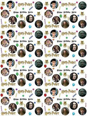 Harry Potter Personalised Birthday Gift Wrap. ADD A NAME! CHOOSE BACKGROUND!
