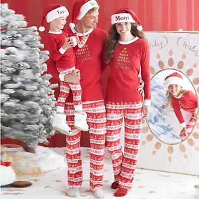 Christmas Kids Baby Family Matching Pajamas Set Womens Mens Nightwear Pyjamas