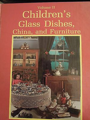 """Collectibles book:""""Children's Glass Dishes, China & Furniture,"""" vol 2   rm-166"""