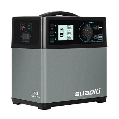 Suaoki 400Wh energía solar Suministro Power bank power Supply 4 USB 2 AC / DC