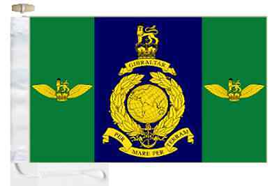 Commando Helicopter Force Royal Marines RM Courtesy Boat Flag Roped & Toggled