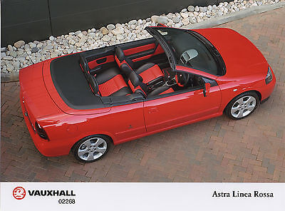 Vauxhall Astra Mk4 Linea Rossa Convertible Limited Edition Press Photograph 2003