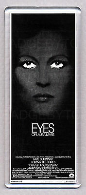 EYES OF LAURA MARS movie poster 'WIDE' FRIDGE MAGNET  - 70's Thriller Classic!