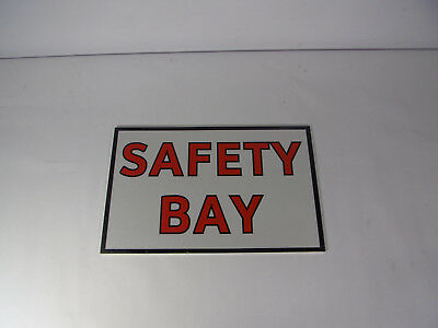 "Generic Double Sided Safety Bay 16X10"" Sign ! WOW !"