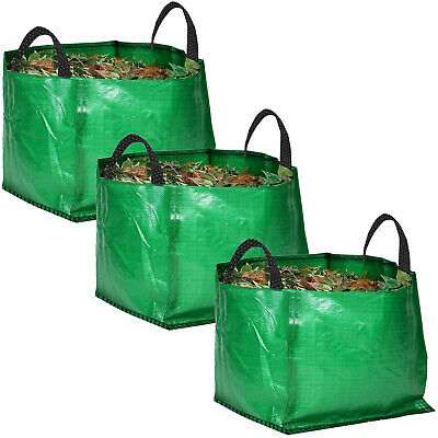 3 x Large Strong Reusable Garden Bag Waste Refuse Rubbish Grass Leaves Sack 120L