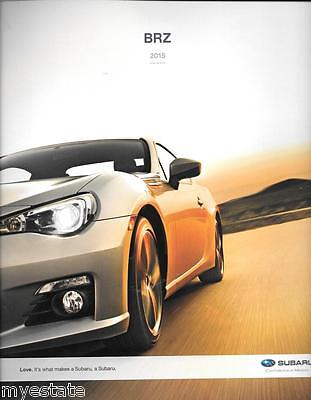 2015 15  Subaru BRZ original sales brochure MINT