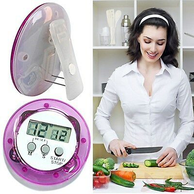 Mini LCD Digital Kitchen Timer Cooking Countdown Magnetic Alarm Food Clock Watch