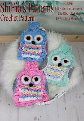 Owl Hot Water Bottle Cover Knitting Pattern : KNITTING PATTERN for OWL CUSHION COVER PYJAMA CASE #239 by ShiFios Patte...