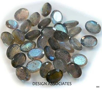 Labradorite 22X16 Mm Oval Faceted Gemstone Rainbow Color Aaa