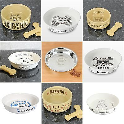 Personalised Pet Food Bowls Water Bowl for Dog Cat Rabbit Feeder Dish