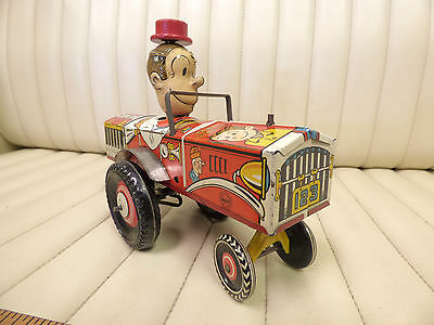 """1935 MARX """"Dagwood the Driver"""" Tin Lithographed Wind Up Car RARE"""