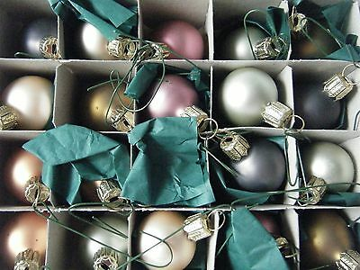 Smith & Hawkins Glass Ornaments Set of 20 Muted Pastel Colors Germany