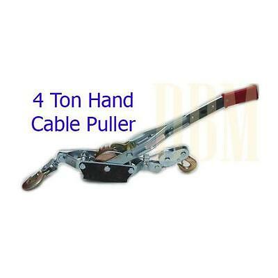 4 Ton Hand Cable Puller Winch Come Along Wire Rope New