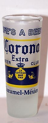 Corona Tall Frosted Shot Glass Beer Club Cozimel Mexico