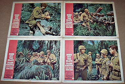 None But The Brave (1965) Clint Walker * Frank Sinatra Lot Of 4 Orig Lobby Cards