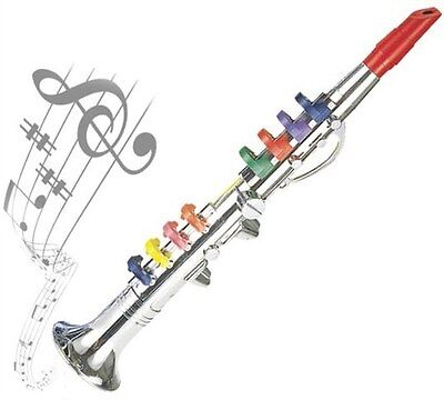 """Bontempi 16.5"""" Clarinet Kids Training Trainer Wind Instrument Made Italy Ages 3+"""
