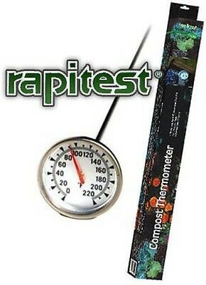 Dial Soil Compost Thermometer Temperature Gauge Rapitest Celcius Fahrenheit 1635
