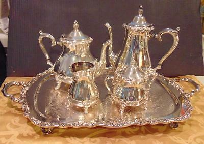 Vintage Internationl Silver COUNTESS 5 Piece Silverplated Coffee Tea Service Set