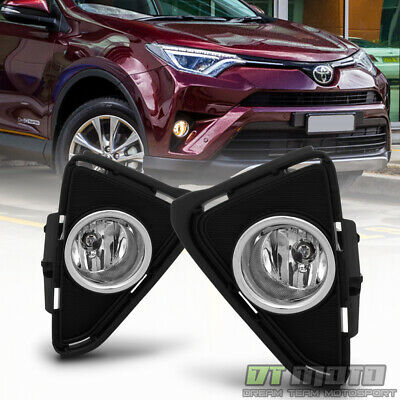 For 2016-2018 Toyota RAV4 Bumper Fog Lights Driving Lamps w/ Switch Left+Right