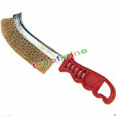 Hand Wire Brush Heavy Duty With Plastic Handle Diy Tool Rust Paint Metal Remover