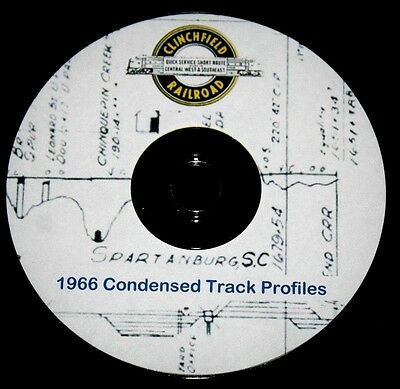 Clinchfield Railroad 1966 Track Chart Pages on DVD
