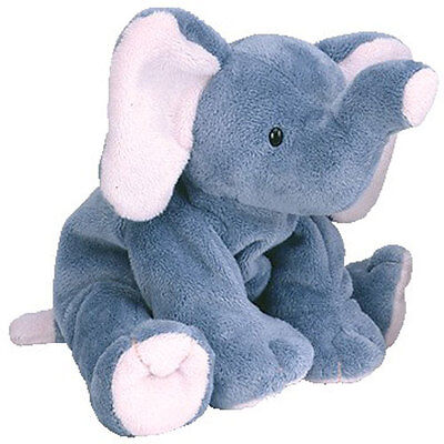 TY Pluffies - WINKS the Elephant (8 inch) - MWMTs Stuffed Animal Toy